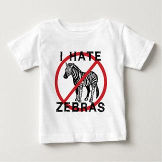 Odio cebras playera de bebé