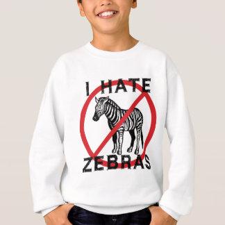 Odio cebras sudadera