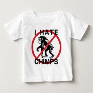 Odio chimpancés playera de bebé