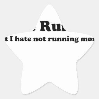 Odio correr black.jpg calcomanías forma de estrella personalizadas