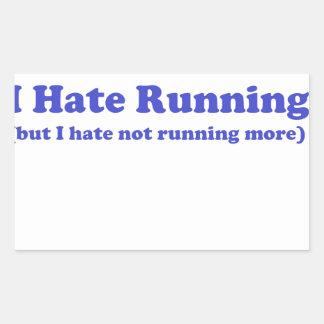 Odio correr el azul rectangular altavoz