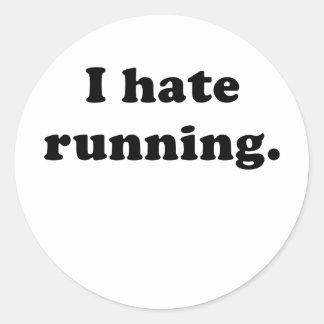 Odio correr etiquetas redondas