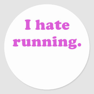 Odio correr pegatina redonda