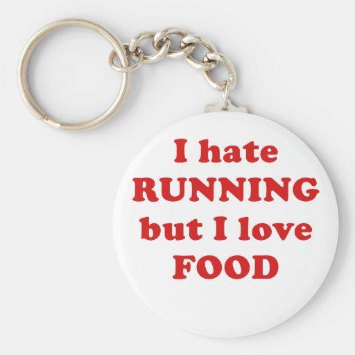 Odio correr pero amo la comida llavero personalizado