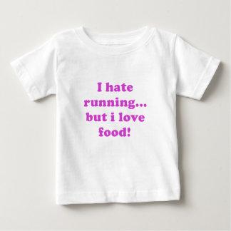 Odio correr pero amo la comida playera para bebé