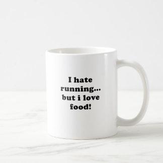 Odio correr pero amo la comida taza básica blanca