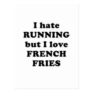 Odio correr pero amo las patatas fritas postales