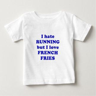 Odio correr pero amo las patatas fritas remeras