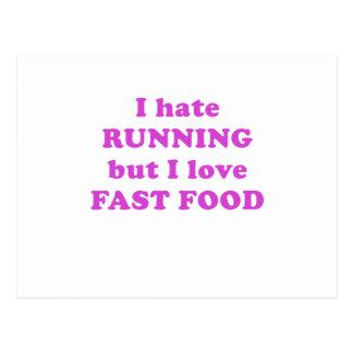 Odio correr pero amo los alimentos de preparación postal
