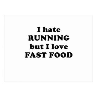 Odio correr pero amo los alimentos de preparación postales