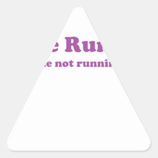 Odio correr púrpura colcomanias trianguladas personalizadas