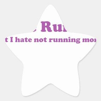 Odio correr púrpura calcomanía forma de estrellae