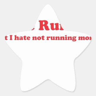 Odio correr rojo pegatinas forma de estrellaes personalizadas