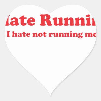 Odio correr rojo colcomanias corazon