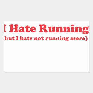 Odio correr rojo rectangular altavoces