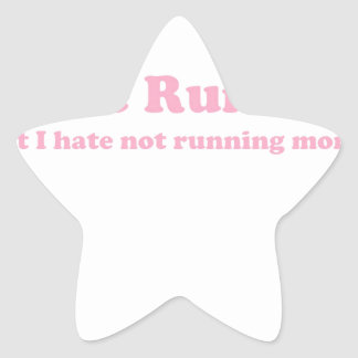 Odio correr rosa pegatinas forma de estrella