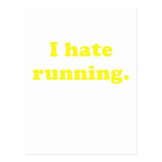 Odio correr tarjetas postales