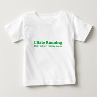 Odio correr verde remera