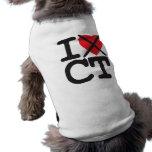 Odio CT - Connecticut Playera Sin Mangas Para Perro