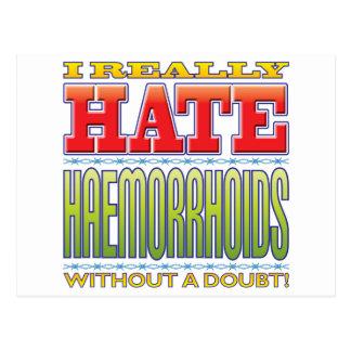 Odio de la hemorroides tarjetas postales