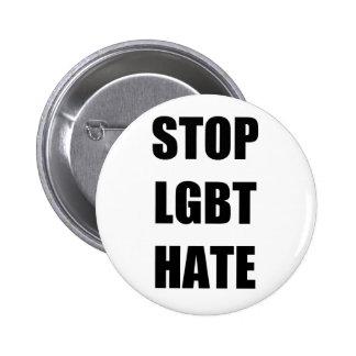 Odio de la parada LGBT Pin Redondo De 2 Pulgadas