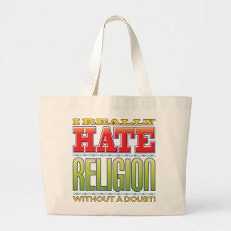 Odio de la religión bolsa de mano