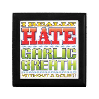 Odio de la respiración del ajo caja de joyas