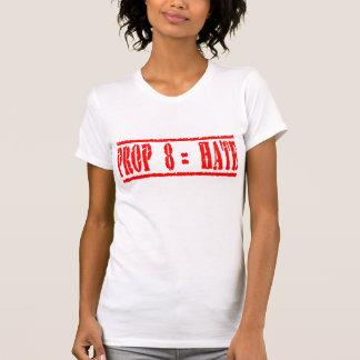 Odio de los iguales del apoyo 8 camisetas