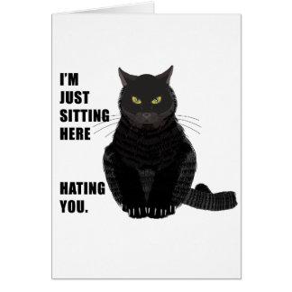 Odio de usted tarjeta de felicitación