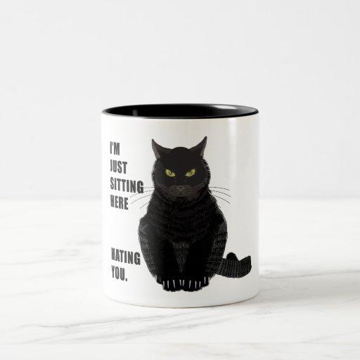 Odio de usted taza de café