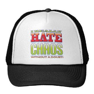 Odio del caos gorras de camionero