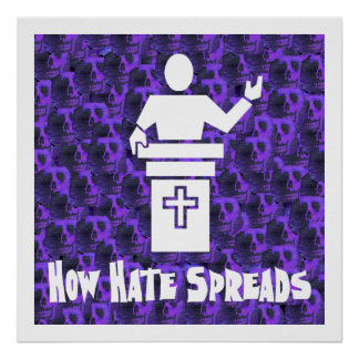 Odio del púlpito impresiones
