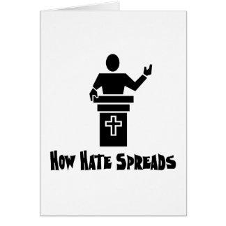 Odio del púlpito tarjeta