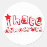 Odio Demócratas Etiqueta Redonda