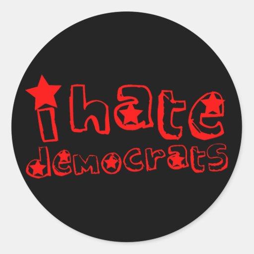 Odio Demócratas Etiquetas Redondas