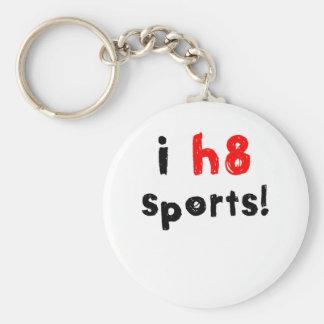 Odio deportes llavero redondo tipo pin