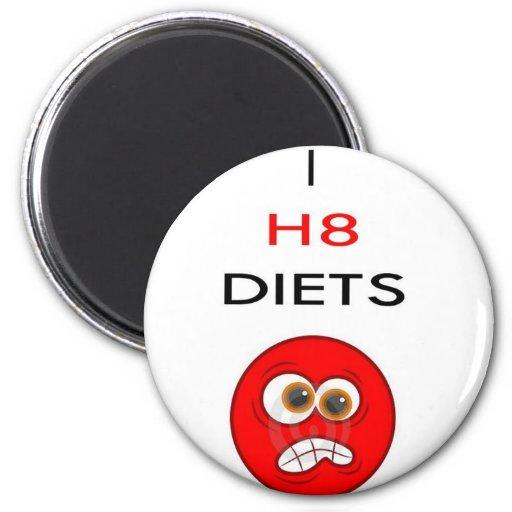 Odio dietas iman de frigorífico