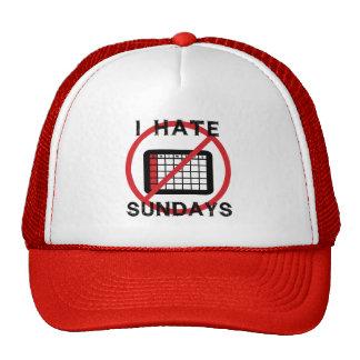 Odio domingos gorras