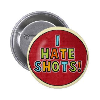 Odio el botón de los tiros pin redondo de 2 pulgadas
