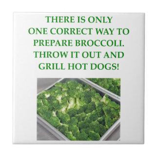 odio el bróculi azulejo cuadrado pequeño