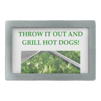 odio el bróculi hebillas de cinturon rectangulares