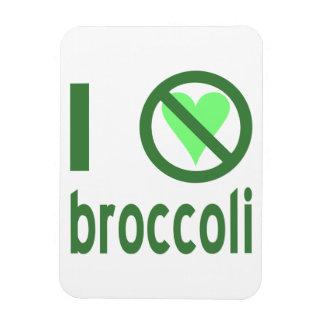 Odio el bróculi imanes rectangulares