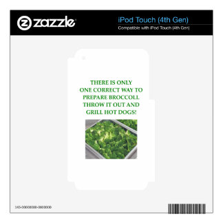 odio el bróculi calcomanías para iPod touch 4G