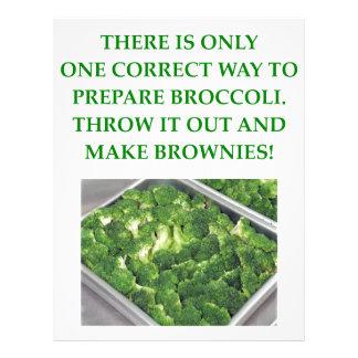 odio el bróculi membrete personalizado