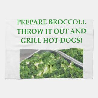 odio el bróculi toalla de cocina