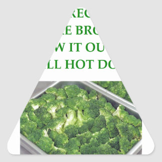 odio el bróculi pegatina triangular