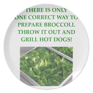 odio el bróculi platos para fiestas