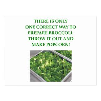 odio el bróculi postales