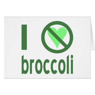 Odio el bróculi felicitaciones