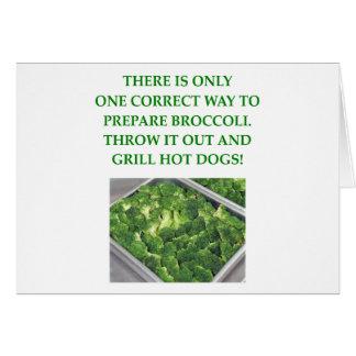 odio el bróculi tarjeta de felicitación